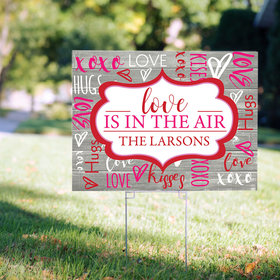 Personalized Valentine's Day Yard Sign - Love is in the Air