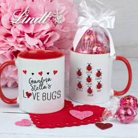 Personalized Seven Love Bugs 11oz Mug with Lindt Truffles