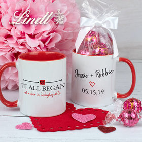 Personalized It All Began 11oz Mug with Lindt Truffles