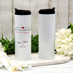 Personalized It All Began Stainless Steel Thermal Tumbler (16oz)