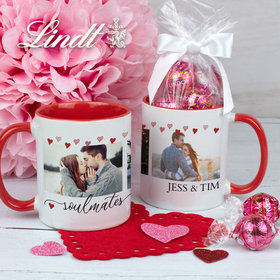 Personalized Soulmates 11oz Mug with Lindt Truffles