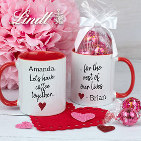 Personalized Let's Have Coffee Together 11oz Mug with Lindt Truffles