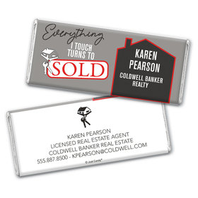 Personalized Realtor Everything I Touch Chocolate Bar & Wrapper