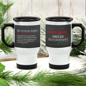 Personalized World's Best Accountant Stainless Steel Travel Mug (14oz)