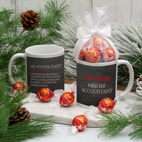 Personalized World's Best Accountant 11oz Mug with Lindt Truffles