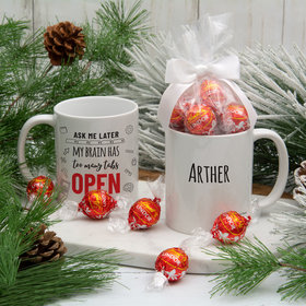 Personalized Too Many Tabs Open 11oz Mug with Lindt Truffles