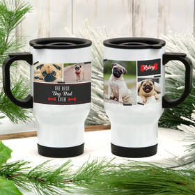 Personalized Best Dog Parent Ever Stainless Steel Travel Mug (14oz)