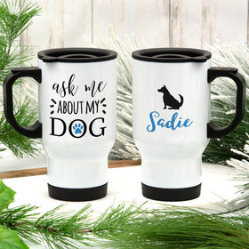 Personalized About My Dog (German Shepard) Stainless Steel Travel Mug (14oz)
