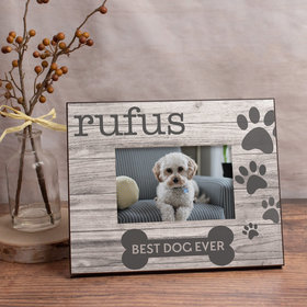 Personalized Best Dog Ever Picture Frame
