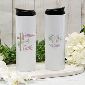 Personalized Woman of Faith Stainless Steel Thermal Tumbler (16oz)