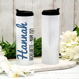 Personalized Stainless Steel Thermal Tumbler (16oz) - Name Script