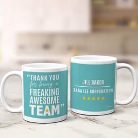 Personalized Freaking Awesome Team 11oz Mug Empty