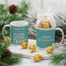 Personalized Freaking Awesome Team 11oz Mug with Lindt Truffles
