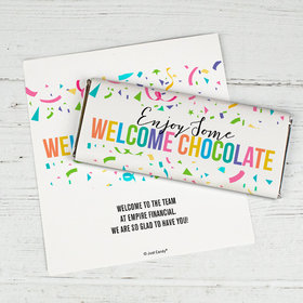 Personalized Welcome Chocolate It's Crunch Time Chocolate Bar Wrappers Only