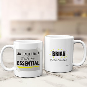 Personalized Company Thinks I'm Essential 11oz Mug Empty