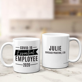 Personalized Covid-19 Essential Employee 11oz Mug Empty