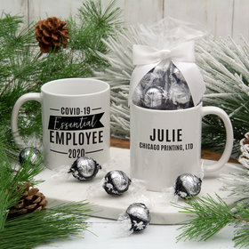 Personalized Covid-19 Essential Employee 11oz Mug with Lindt Truffles