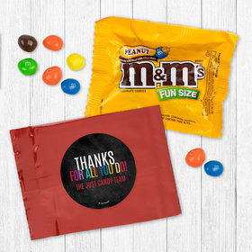 Personalized Business Colorful Thanks Peanut M&Ms