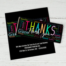 Personalized Thanks Language It's Crunch Time Chocolate Bar Wrappers Only