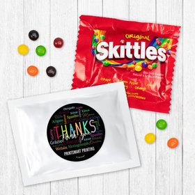 Personalized Business Thanks Languages Skittles