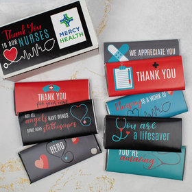 Personalized Nurse Appreciation Hershey's Chocolate Bars Gift Box (8 Pack)