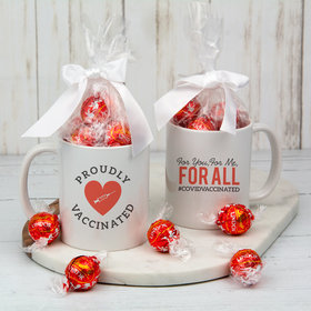Personalized Proudly Vaccinated 11oz Mug with Lindt Truffles