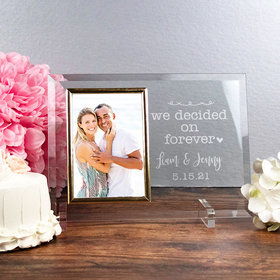 Personalized We Decided on Forever Picture Frame