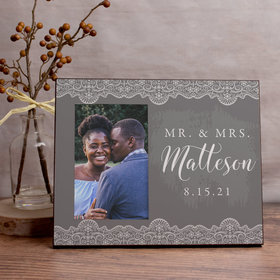 Personalized Mr. & Mrs. Lace Picture Frame