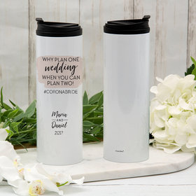 Personalized Stainless Steel Thermal Tumbler (16oz) - Why Plan One Wedding
