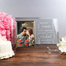 Personalized Wedding Word Cloud Picture Frame