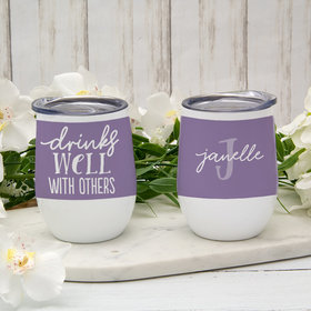Personalized Wine Tumbler (12oz) - Drinks Well with Others