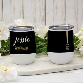 Personalized Wine Tumbler (12oz) - Bridesmaid