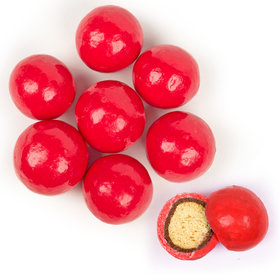 Premium Gourmet Red Milk Chocolate Malted Milk Balls