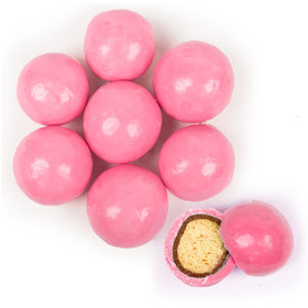 Premium Gourmet Bright Pink Milk Chocolate Malted Milk Balls