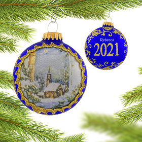 2021 Dated Masters on Silk (Night) Ornament