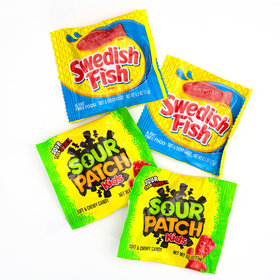 Sour Patch Kids & Red Swedish Fish Treat Packs 115ct Bag