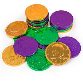 Fresch Milk Chocolate Coins Mardi Gras Mix