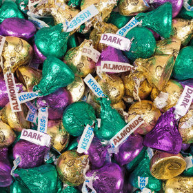 Hershey's Kisses Mardi Gras Mix