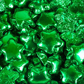 Madelaine Milk Chocolate Stars Green Foil