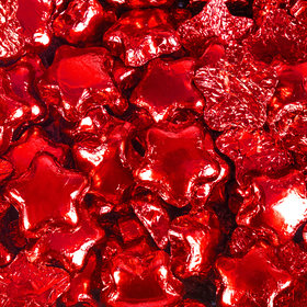 Madelaine Milk Chocolate Stars Red Foil