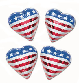 Madelaine Milk Chocolate Patriotic Hearts