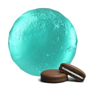 Turquoise Chocolate Covered Oreos