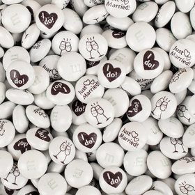 Just Married M&Ms Milk Chocolate Candies