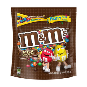 M&M'S Milk Chocolate Candy Party Size 38-Ounce Bag