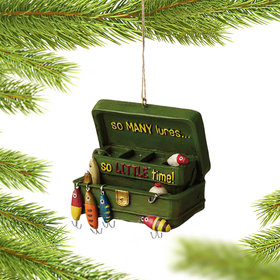 So Many Lures Tackle Box Ornament