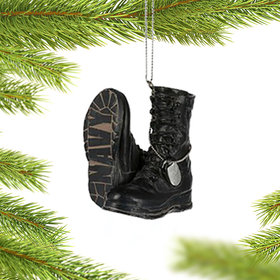 Military Boots (Navy) Ornament