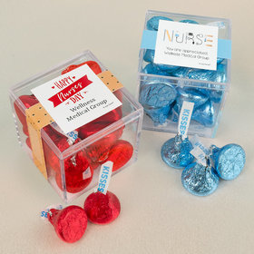 Personalized Nurse Appreciation JUST CANDY® favor cube with Hershey's Kisses
