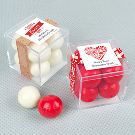 Personalized Nurse Appreciation JUST CANDY® favor cube with Premium Malted Milk Balls
