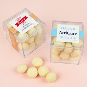 Personalized Nurse Appreciation JUST CANDY® favor cube with Premium Sugar Cookie Bites