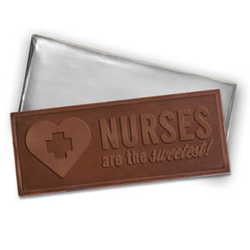 Embossed Nurse Appreciation Milk Chocolate Bar (12 Pack)